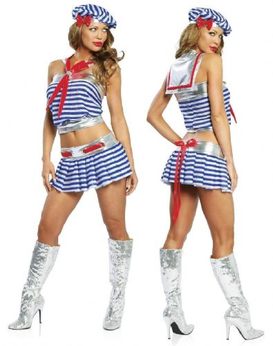 Captains Babe - Sexy Fancy Dress Costume (Roma 4092)
